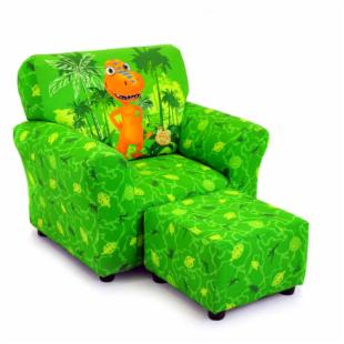 Kidz World Dinosaur Train - Buddy Green Club Chair and Ottoman Set