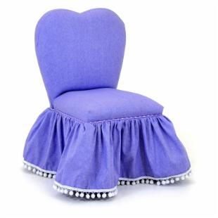 Kidz World Ann Bryan Kids Collection Sweetheart Chair - Purple