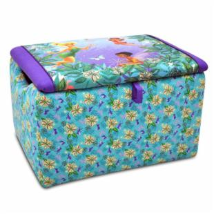Disney Fairies Floral Blue &amp; Purple Toy Box 