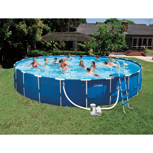 Intex Saltwater System Round Above Ground Pool 52 In Deep At Hayneedle