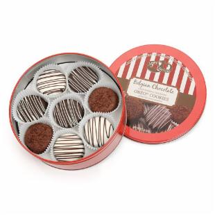 Gourmet Tin of Classic Belgian Chocolate Drenched Oreos