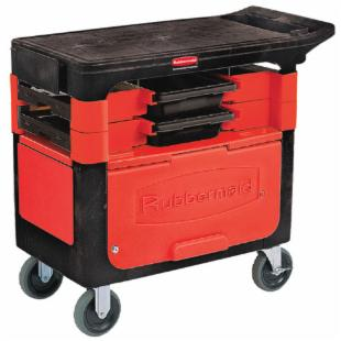 Rubbermaid Commercial Locking Trades Cart