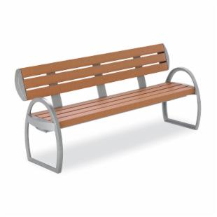 Anova Furnishings 6 ft. Woodwind Contour Bench