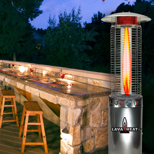 Lava Heat Italia Cylindrical 6 Ft Commercial Flame Patio