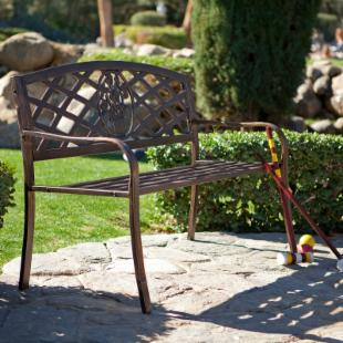 Rose Crossweave 4-ft. Garden Bench