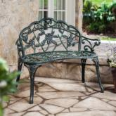 Rose Cast Aluminum Loveseat Bench