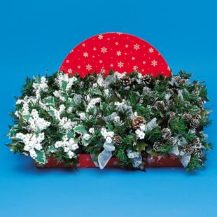 7 in. Decorated Pick Cone with Snow Flakes &amp; White Beaded Berries - 48 Count