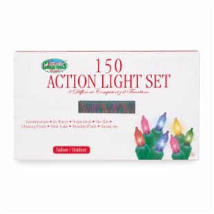 150 ct. Multi-Color Action Mini Lights with Green Wire 3.5 in. Spacing (Case of 3)
