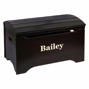 Little Colorado Solid Wood Toy Storage Chest with Personalization - Espresso Finish
