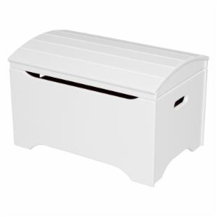 Little Colorado Solid Wood Toy Storage Chest - Soft White - No Personalization