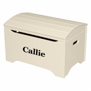 Little Colorado Solid Wood Toy Storage Chest with Personalization - Linen Finish