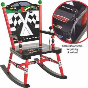 Levels of Discovery Race Car Rocking Chair with Sound