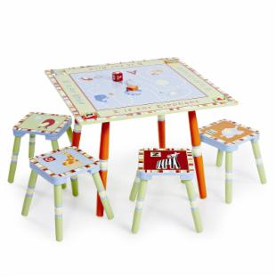 Levels of Discovery Alphabet Soup Table and 4 Stool Set
