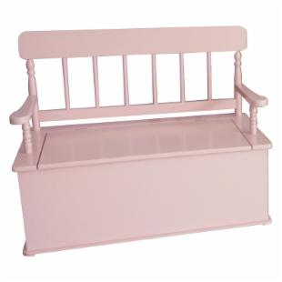 Levels of Discovery Simply Classic Pink Bench Seat with Storage