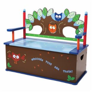 Levels Of Discovery Owls Bench Seat with Storage