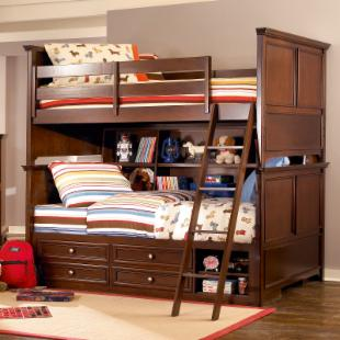 Covington Full over Full Bookcase Storage Bunk Bed