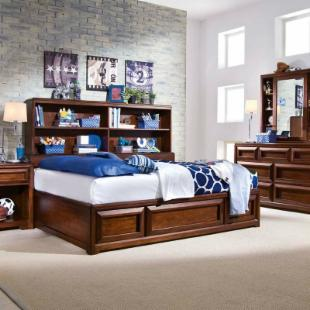 Elite Expressions Bookcase Platform Bed