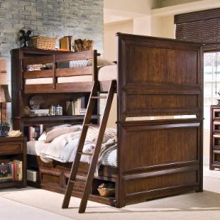 Elite Expressions Bookcase Full over Full Bunk Bed