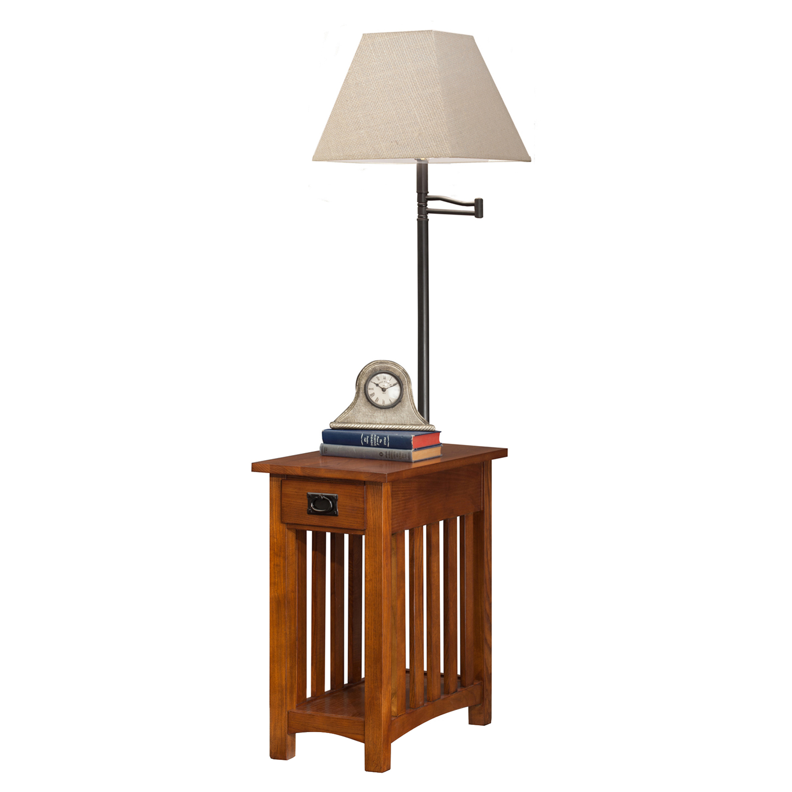 Leick Laurent Mission Chairside Lamp Table End Tables at
