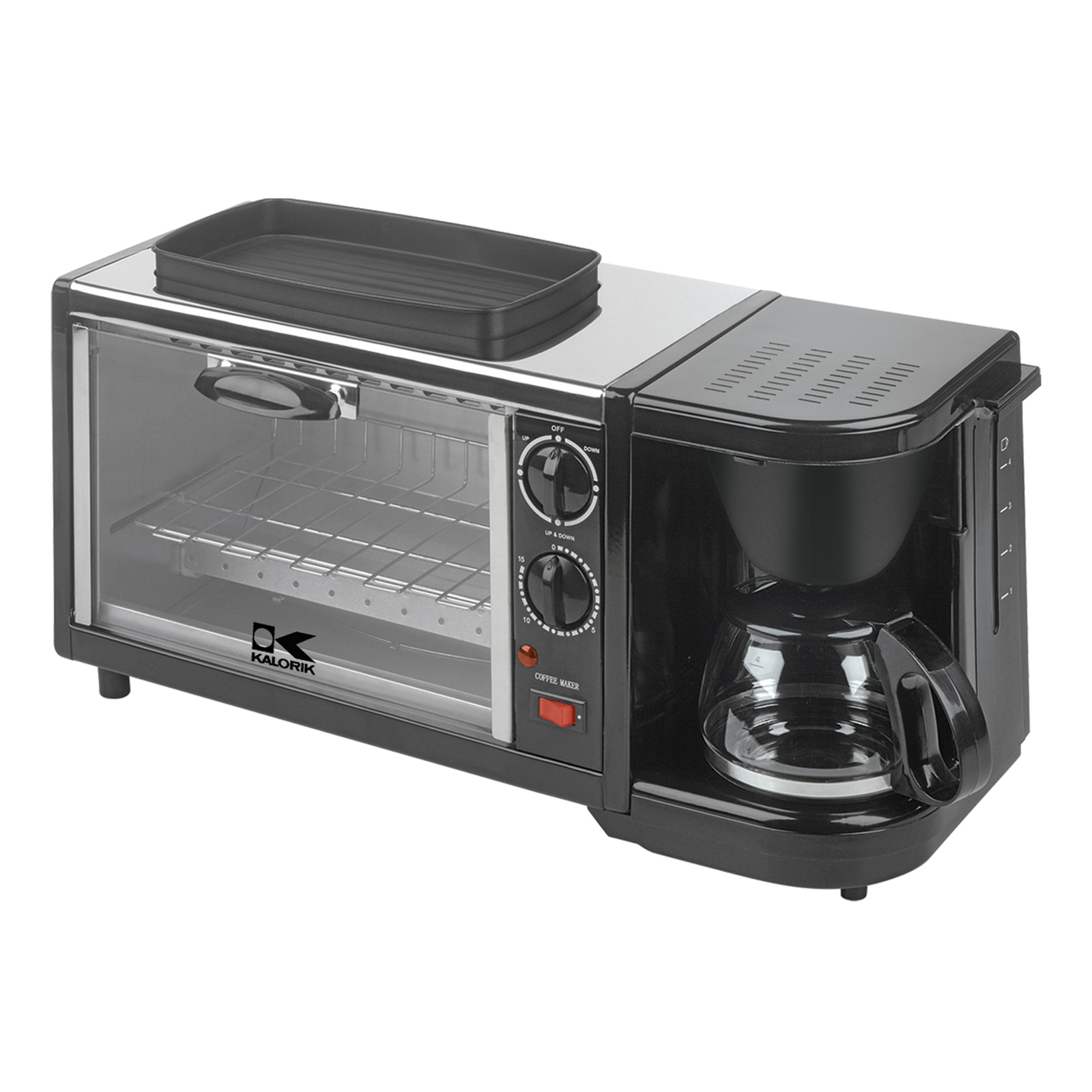 Countertop Oven Grill : Kalorik BSET1 Toaster Oven Grill with Coffee Maker at Hayneedle