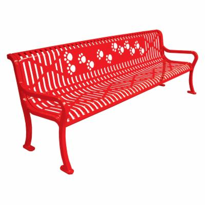 8 ft. Multicolor Diamond Pattern Commercial Grade Personalized Park Bench