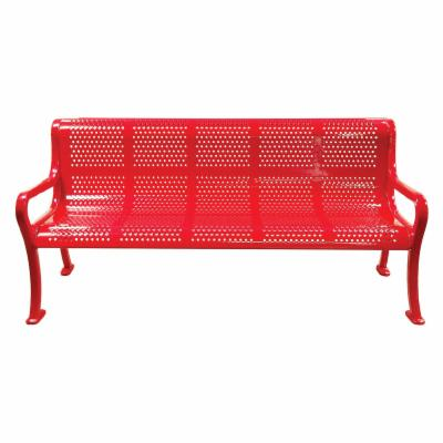8 ft. Multicolor Perforated Commercial Grade Personalized Park Bench