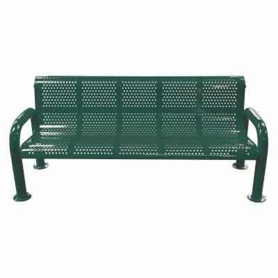 8 ft. Multicolor Perforated U Leg Commercial Grade Personalized Park Bench