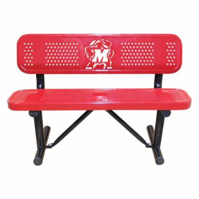 6 ft. Multicolor Personalized Perforated Standard Sports Bench