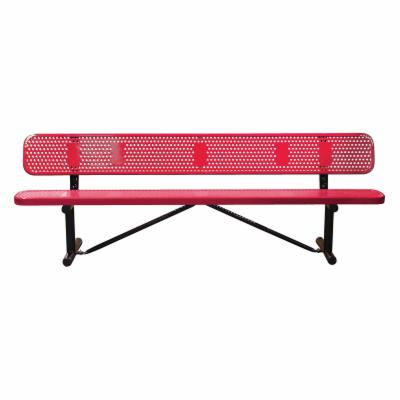 10 ft. Multicolor Personalized Perforated Standard Sports Bench - Surface Mount