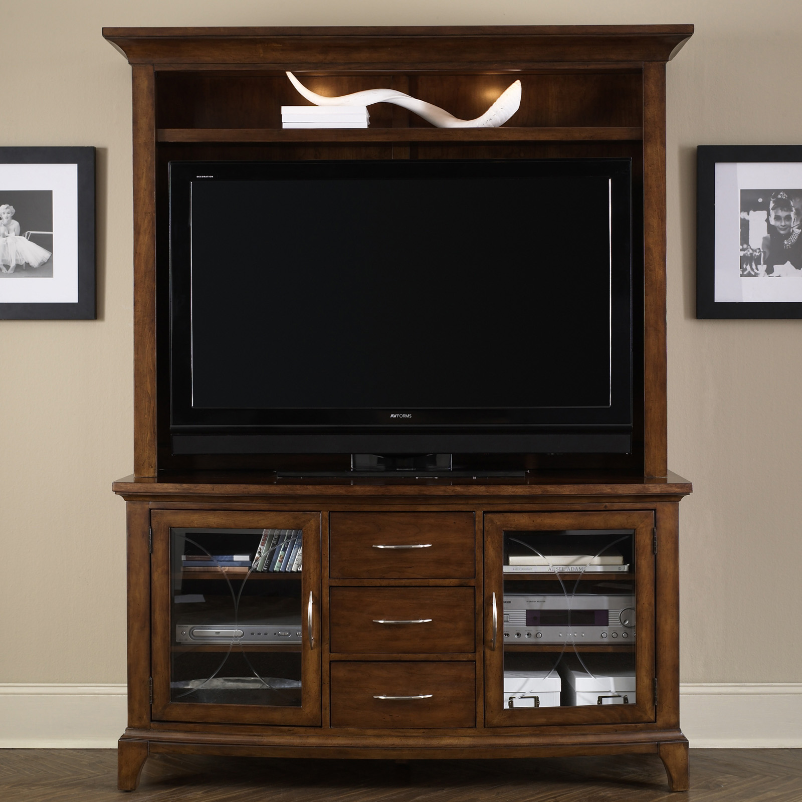 LIberty Furniture Parkview Entertainment Center at Hayneedle