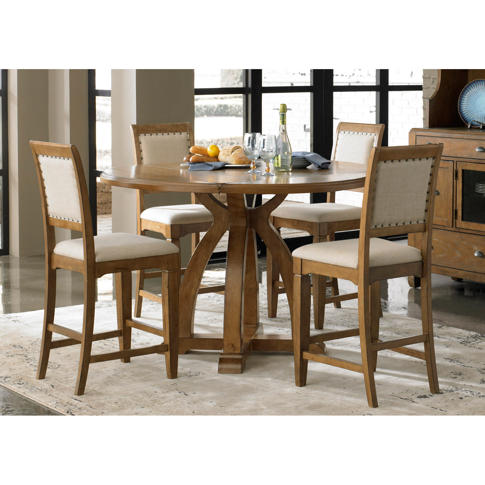 Stanton Counter Height Dining Table In Black: Liberty Furniture Stanton 5-piece Counter-Height Gathering