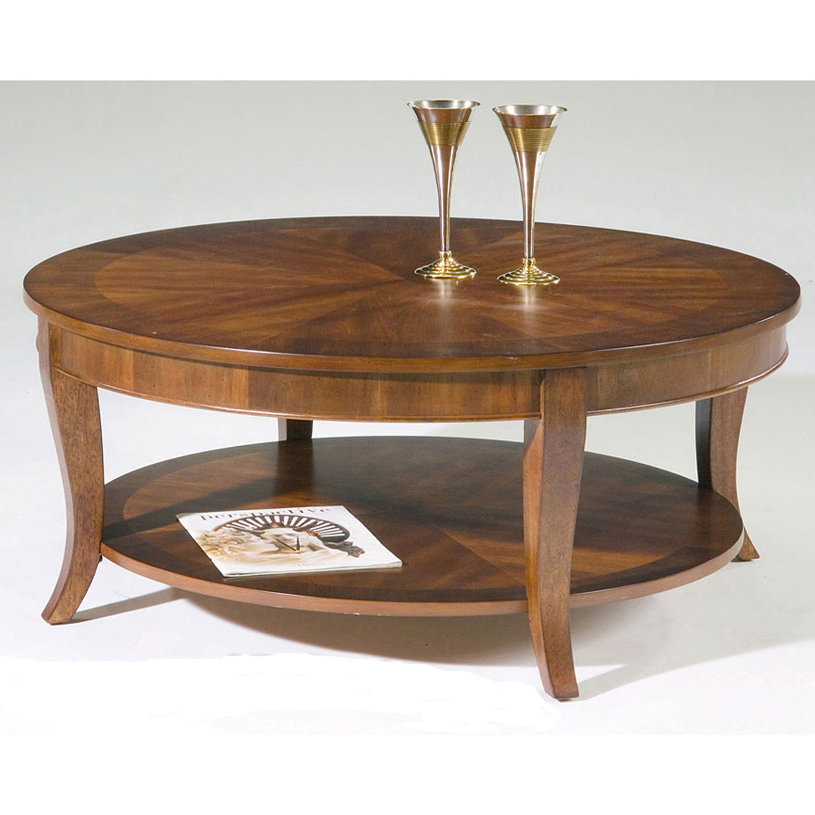 Bradshaw round coffee table coffee tables at hayneedle What to put on a round coffee table