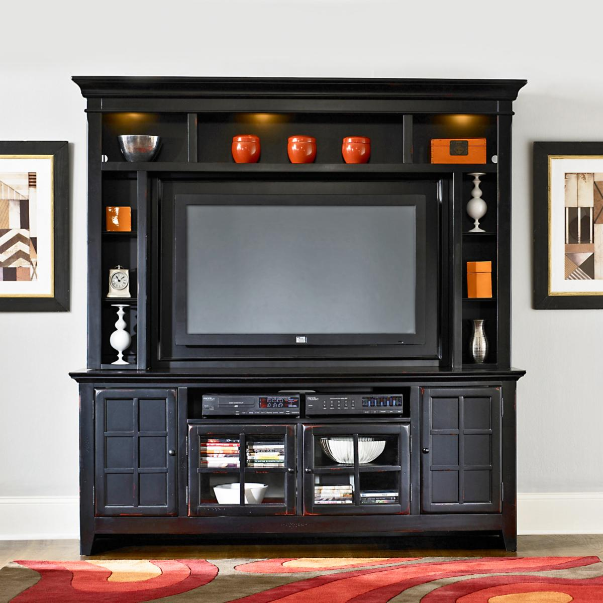 Transitional Entertainment Center in Black - Entertainment Centers ...