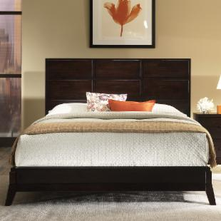 Franklin Low Profile Bed Set in Merlot :  furniture low collections bed