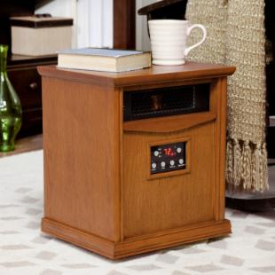 LifeSmart Six Element Infrared Heater - Oak