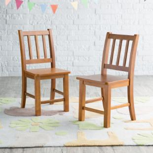 Classic Playtime Chairs - Set of 2 -  Pecan