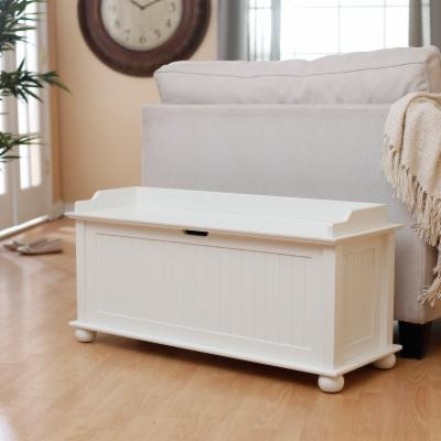 Morgan Traditional Flip Top Storage Bench - Vanilla