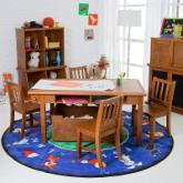  Classic Playtime Pecan Deluxe Activity Table with Free Paper Roll
