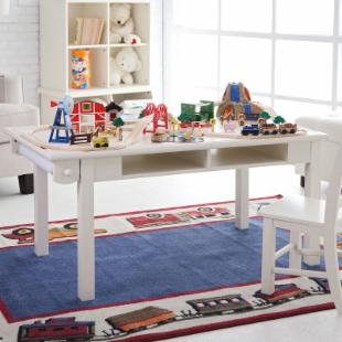 Classic Playtime Deluxe Train Table - Vanilla