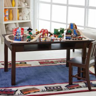 Classic Playtime Espresso Deluxe Train Table