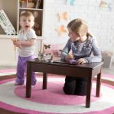  Classic Playtime Floor Desk - Espresso