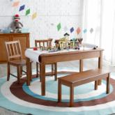  Classic Playtime Rectangle Table and Chair Set - Pecan