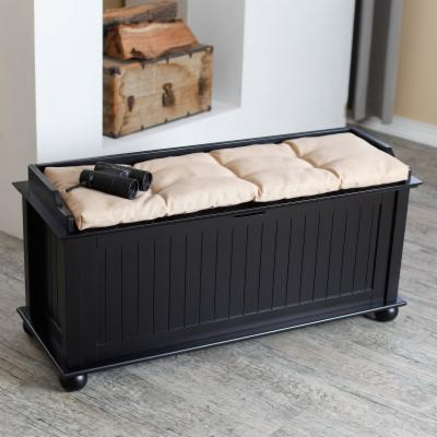Morgan Traditional Flip-Top Storage Bench - Vanilla
