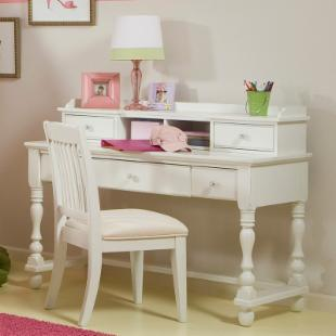 Olivia Desk with Optional Hutch and Chair