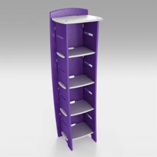 Legare Grape 4 Shelf Bookcase
