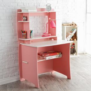 Legare 36 in. Desk with Hutch - Pink &amp; White