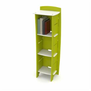 Legare 54 in. Kids Bookcase - Green &amp; White
