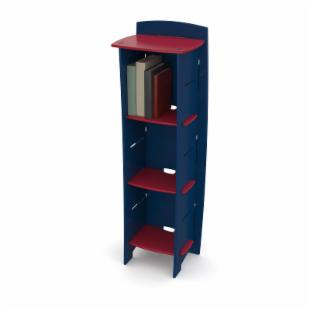 Legare 54 in. Kids Bookcase - Navy &amp; Red