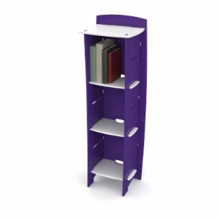 Legare 54 in. Kids Bookcase - Purple &amp; White