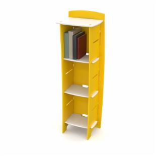 Legare 54 in. Kids Bookcase - Yellow &amp; White